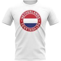 Netherlands Football Badge T-Shirt (White)