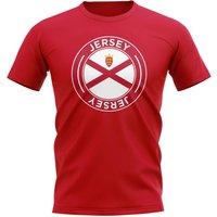 Jersey Football Badge T-Shirt (Red)