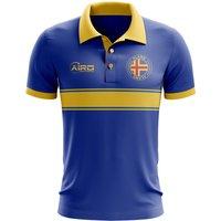 Aland Concept Stripe Polo Shirt (Blue) - Kids