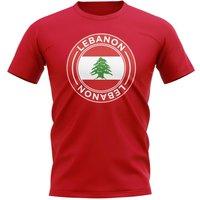 Lebanon Football Badge T-Shirt (Red)