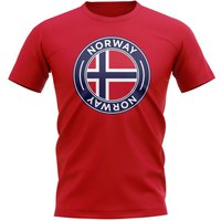 Norway Football Badge T-Shirt (Red)