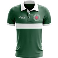 Bangladesh Concept Stripe Polo Shirt (Green)
