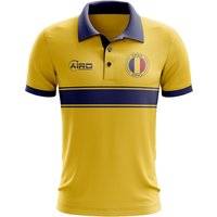 Chad Concept Stripe Polo Shirt (Yellow)
