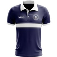 Falkland Islands Concept Stripe Polo Shirt (Navy)