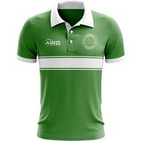 Image of Ladonia Concept Stripe Polo Shirt (Green)