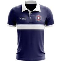 Laos Concept Stripe Polo Shirt (Navy)