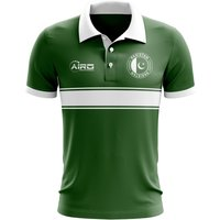 Pakistan Concept Stripe Polo Shirt (Green) - Kids