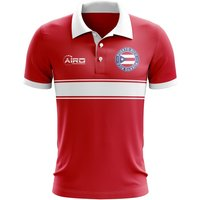 Puerto Rico Concept Stripe Polo Shirt (Red) - Kids