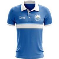 San Marino Concept Stripe Polo Shirt (Blue)