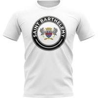 Saint Barthelemy Football Badge T-Shirt (White)
