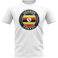 Uganda Football Badge T-Shirt (White)