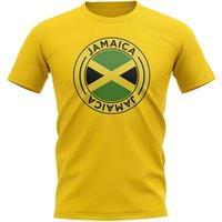 Jamaica Football Badge T-Shirt (Yellow)