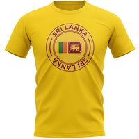 Sri Lanka Football Badge T-Shirt (Yellow)