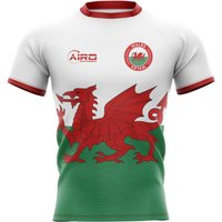 Image of 2020-2021 Wales Flag Concept Rugby Shirt