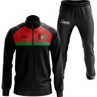 Afghanistan Concept Football Tracksuit (Black)