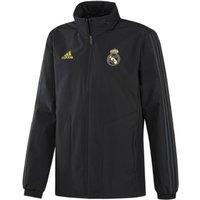 2019-2020 Real Madrid Adidas Allweather Jacket (Black)