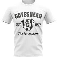 Gateshead Established Football T-Shirt (White)