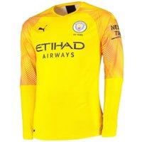 2019-2020 Manchester City Puma Third LS Goalkeeper Shirt (Yellow)