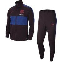 2019-2020 Barcelona Nike Dry Strike Tracksuit (Burgundy Ash)