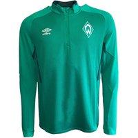 2019-2020 Werder Bremen Umbro Half Zip Training Top (Green)