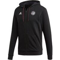 Image of 2020-2021 Ajax Adidas Full Zip Hoody (Black)