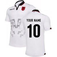 Image of 2019-2020 Albania Away Macron Football Shirt (Your Name)