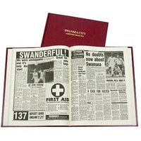 Swansea City Football Newspaper Book