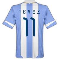 2011-12 Argentina Home Shirt (Tevez 11)