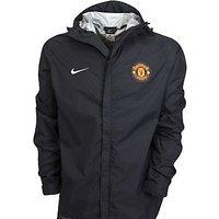 2011-12 Man Utd Nike Basic Rainjacket (Black) - Kids
