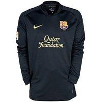2011-12 Barcelona Away Long Sleeve Nike Football Shirt