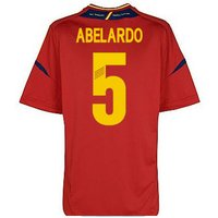 2012-13 Spain Euro 2012 Home Shirt (Abelardo 5) - Kids