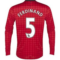2012-13 Man Utd Nike Long Sleeve Home (Rio Ferdinand) - Kids