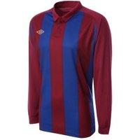 Umbro Clifton LS Teamwear Shirt (red-blue)