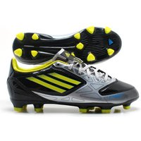 F10 TRX FG Kids Football Boots Black/Metallic Silver/Yellow