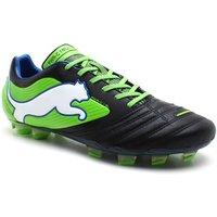 Powercat 1 SL FG Football Boots Black/Jasmine Green/Monaco Blue