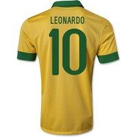 2013-14 Brazil Home Shirt (Leonardo 10) - Kids
