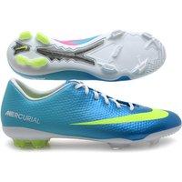 Mercurial Vapor IX Kids FG Football Boots Neptune Blue/Volt/Pink Flash