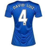 2013-14 Chelsea Ladies Home Shirt (David Luiz 4)