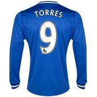 2013-14 Chelsea Home Long Sleeve Shirt (Torres 9) - Kids