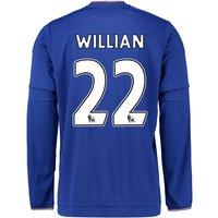 2015-2016 Chelsea Home Long Sleeve Shirt (Willian 22)