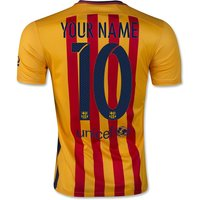 2015-16 Barcelona Away Shirt (your Name) -kids