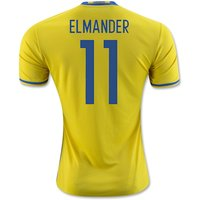 2016-2017 Sweden Home Adidas Shirt (Elmander 11) - Kids