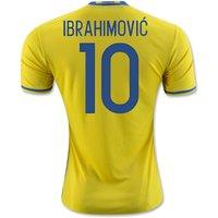 2016-2017 Sweden Home Adidas Shirt (Ibrahimovic 10)