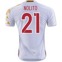 2016-2017 Spain Adidas Away Shirt (Nolito 21)