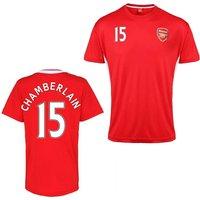 Official Arsenal Training T-Shirt (Red) (Chamberlain 15)