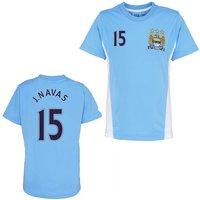 Official Man City Training T-Shirt (Sky Blue) (J. Navas 15)