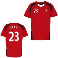 Official Man United Training T-Shirt (Red) (Shaw 23)