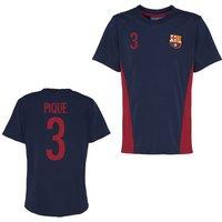 Official Barcelona Training T-Shirt (Navy) (Pique 3)