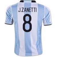 2016-17 Argentina Home Shirt (J.Zanetti 8) - Kids