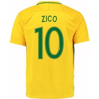 2016-17 Brazil Home Shirt (Zico 10)